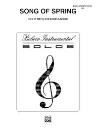 Song of Spring - Clarinet - Leonard