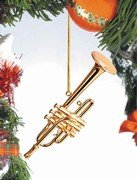 Trumpet Ornament - Gold