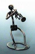Trumpet Player Metal Sculpture