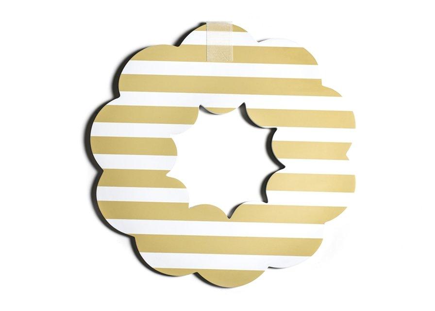 Neutral Stripe Big Wooden Wreath