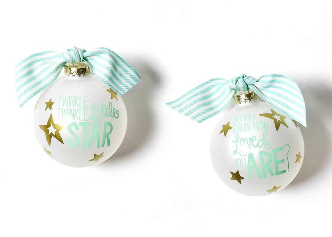 Twinkle Twinkle Little Star Glass Ornament