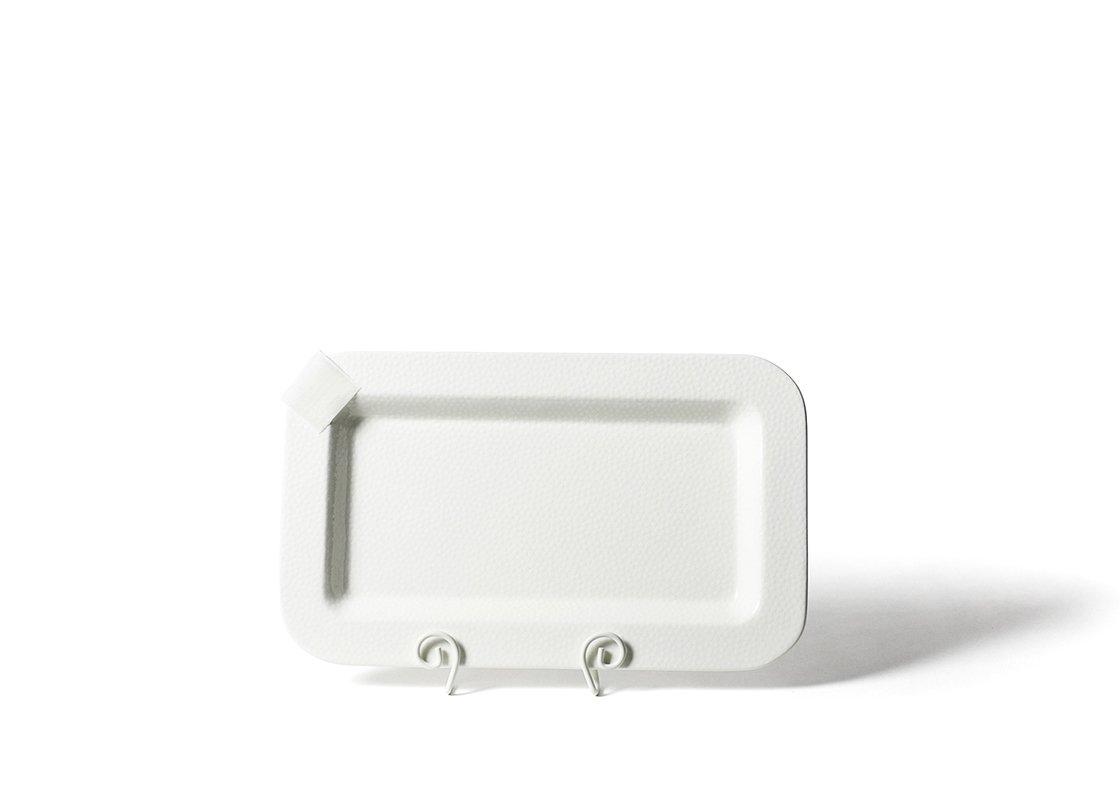 White Small Dot Mini Entertaining Rectangular Platter