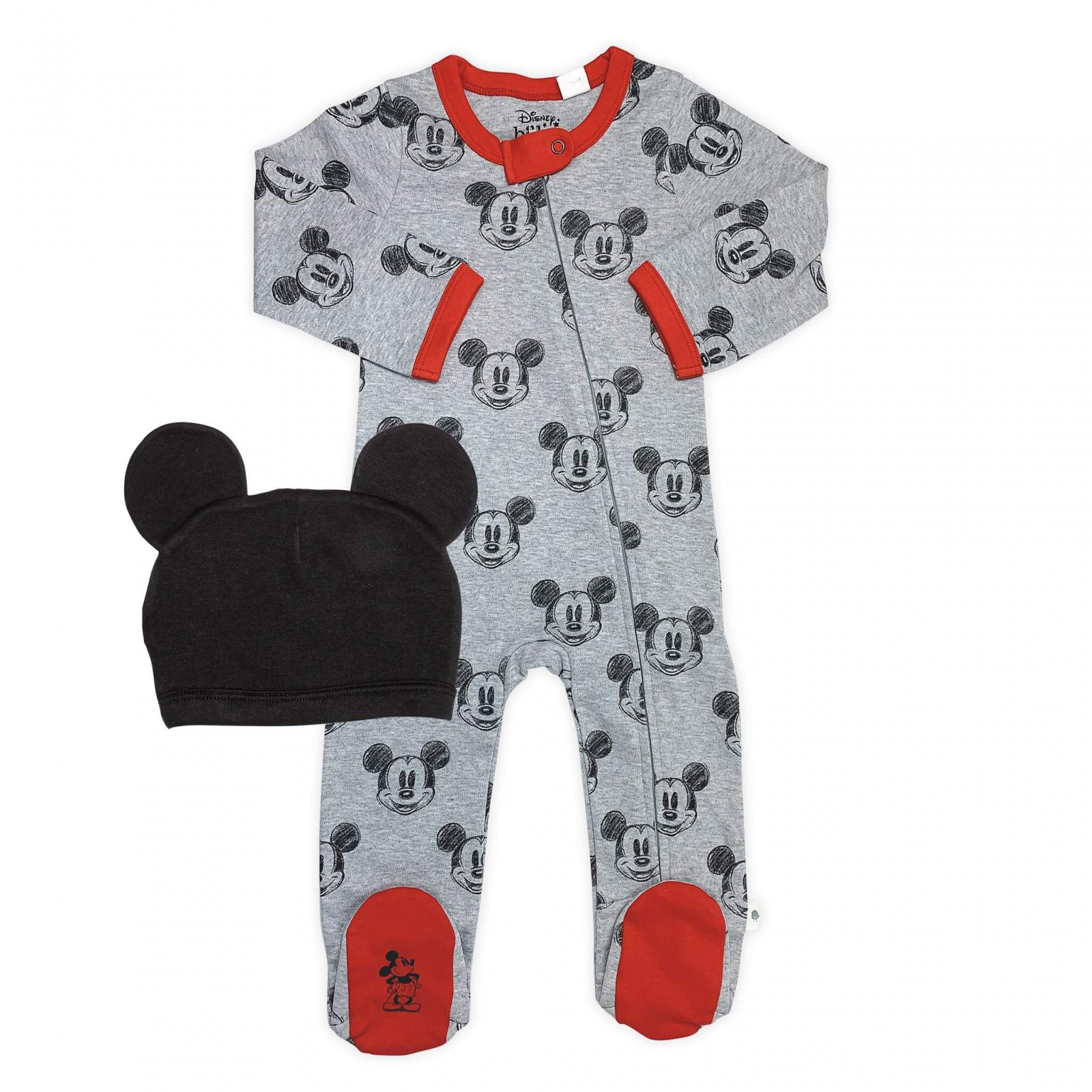 Mickey Footie and Hat Set