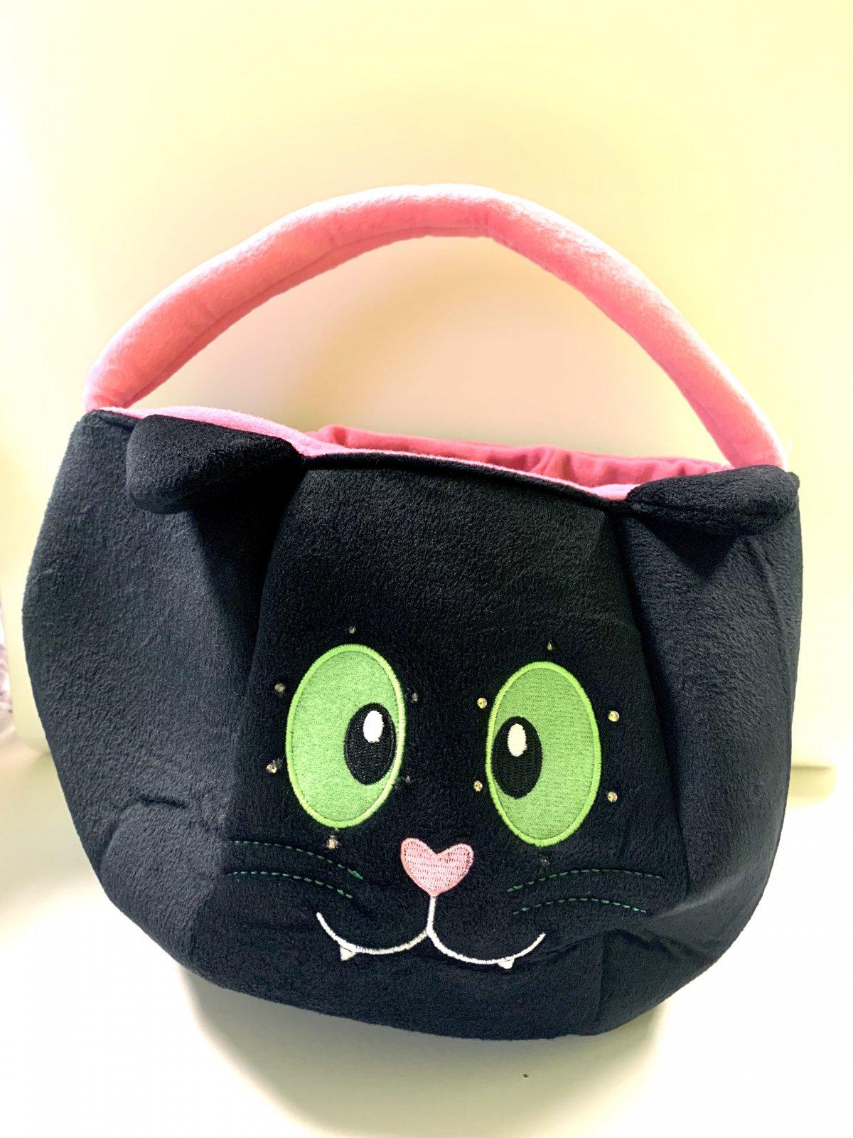 Light-Up Black Cat Treat Bag