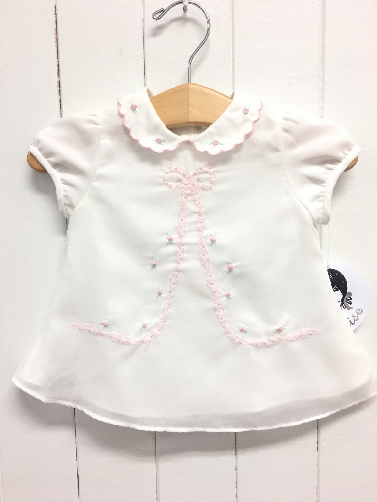 Occasional Dress Ivory/Pink