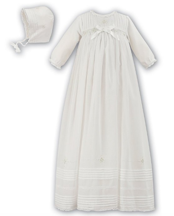 Ceremonial L/S Christening Gown Ivory