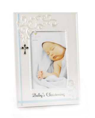 Blue Baby's Christening Frame