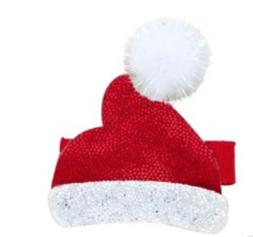 Glitter Santa Hat Hair Clip