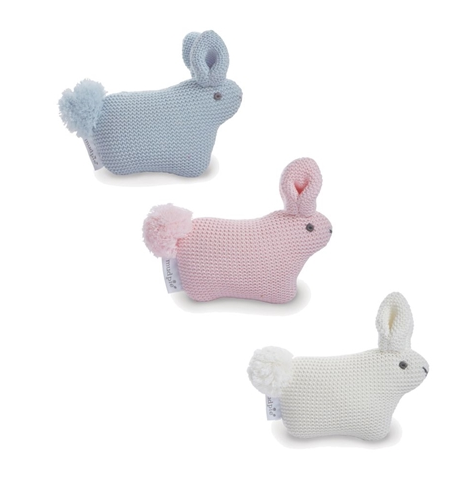 Knit Bunny Rattle
