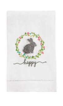 Grey Bunny Easter Knot Towel