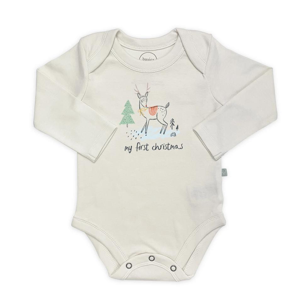Graphic Body Suit Deer Christmas