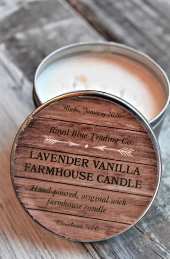 Lavender Vanilla Farmhouse Candle