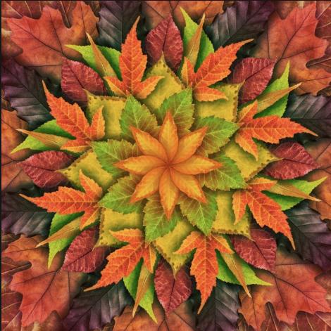 autumn dream big leaf digital panel