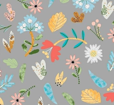 Grey Ellie Floral