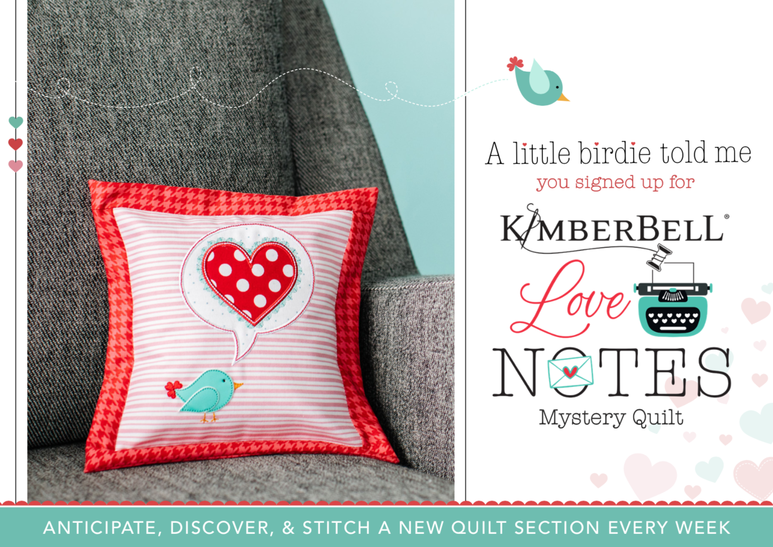 Kimberbell Mystery Quilt - Love Notes