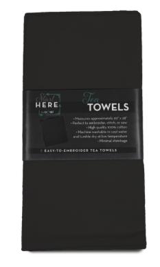 Tea Towels Black 2 pack