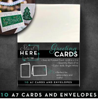 BLANK GREETING CARDS/ENVELOPES A7 10PK