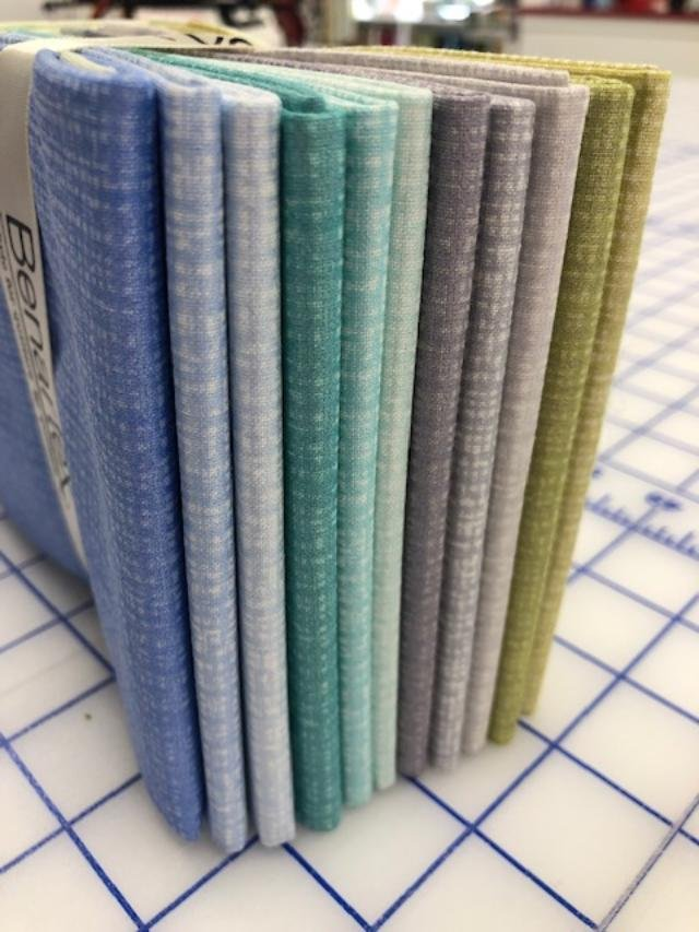 Color Weave Pearl 12 fat quarters blues/grays