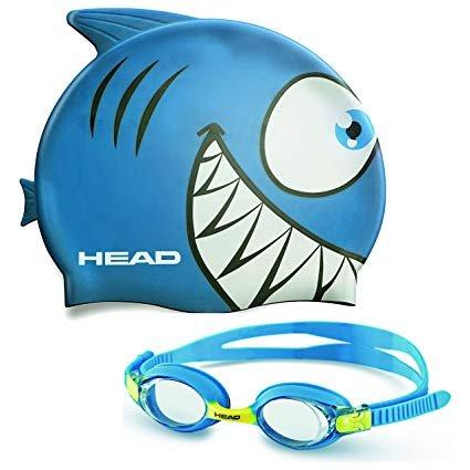 Head Meteor Shark Swim Cap & Goggles Set