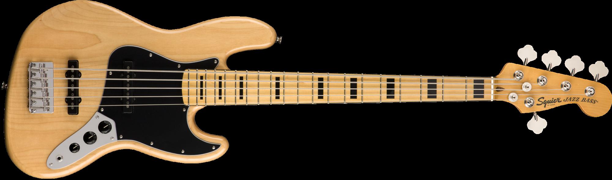 Squier Custom Vibe 70's Jazz Bass V MN NAT