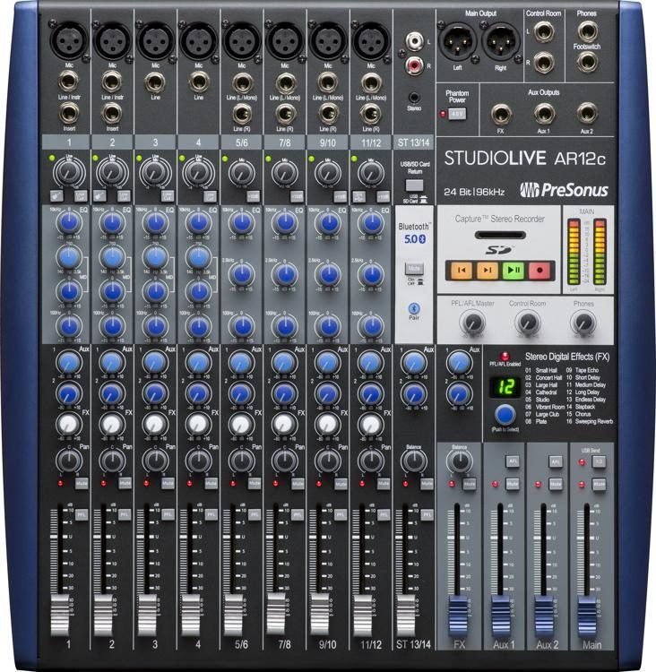 14 Channel USB C Hybrid Mixer/Interface