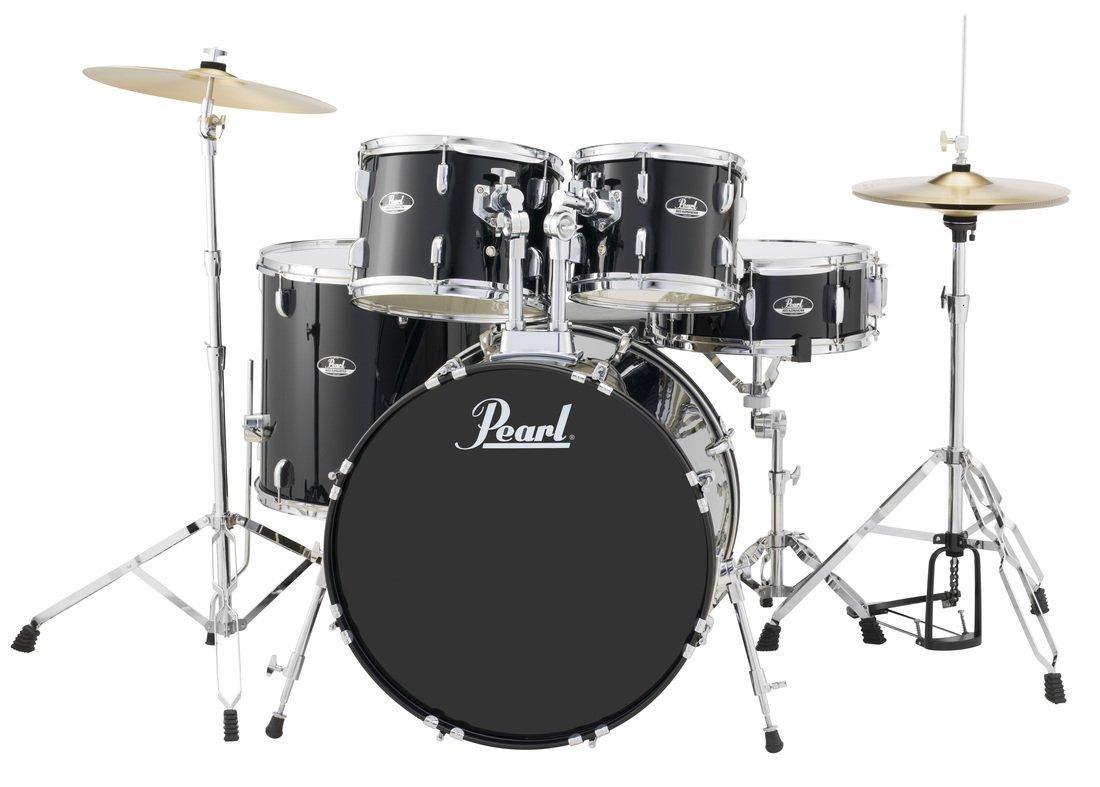 Roadshow 5 Pc w/HW and Cymbals Jet Black