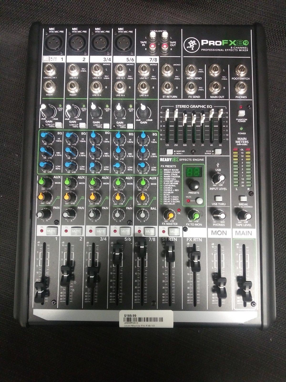 Used Mackie Pro FX8 V2