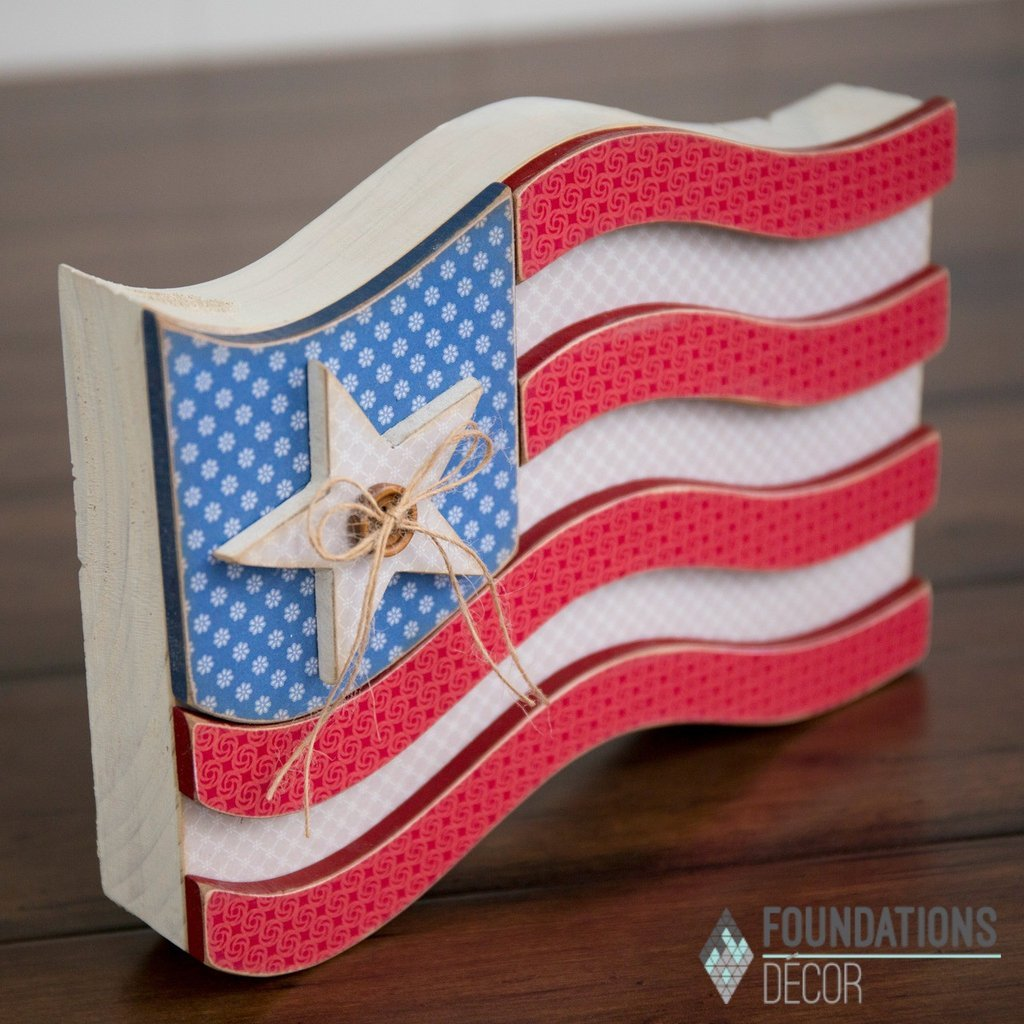Foundations Decor USA Wood Flag