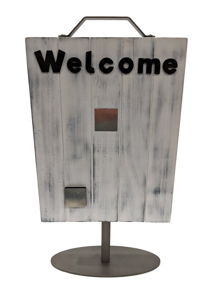 Foundations Decor Welcome Photo Slat Sign