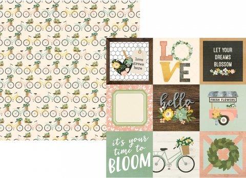 Simple Stories Spring Farmhouse 4x4 Elements 12x12 Paper
