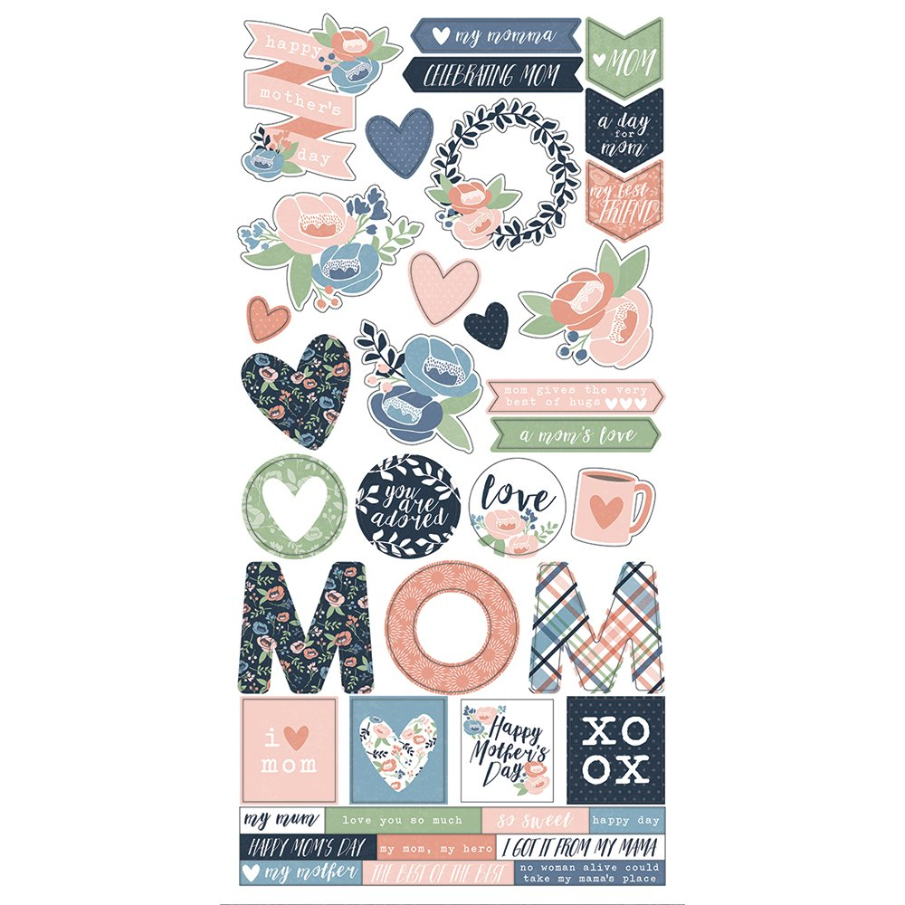 Simple Stories Mom's Day 6x12 Sticker
