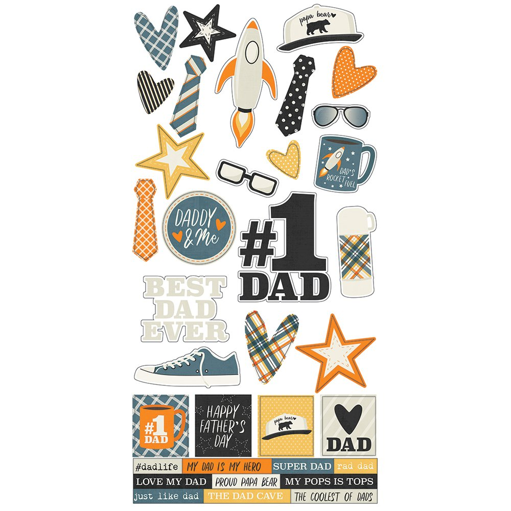 Simple Stories Dad Life 6x12 Stickers