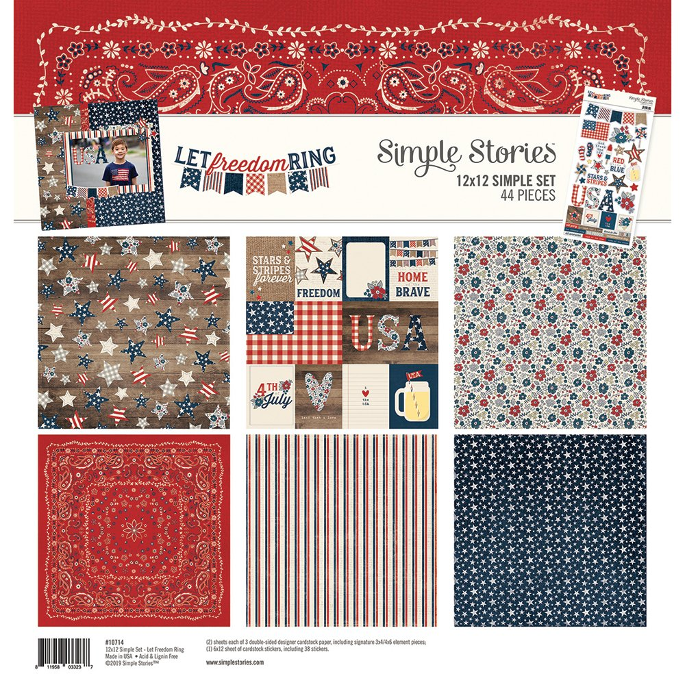 Simple Stories Let Freedom Ring 12x12 Simple Set