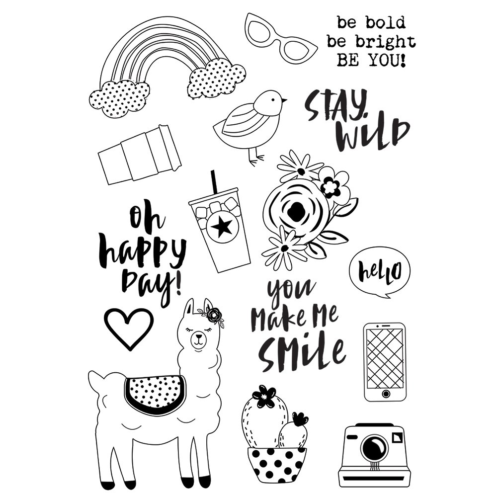 Simple Stories Oh Happy Day! Be You Stamp Set