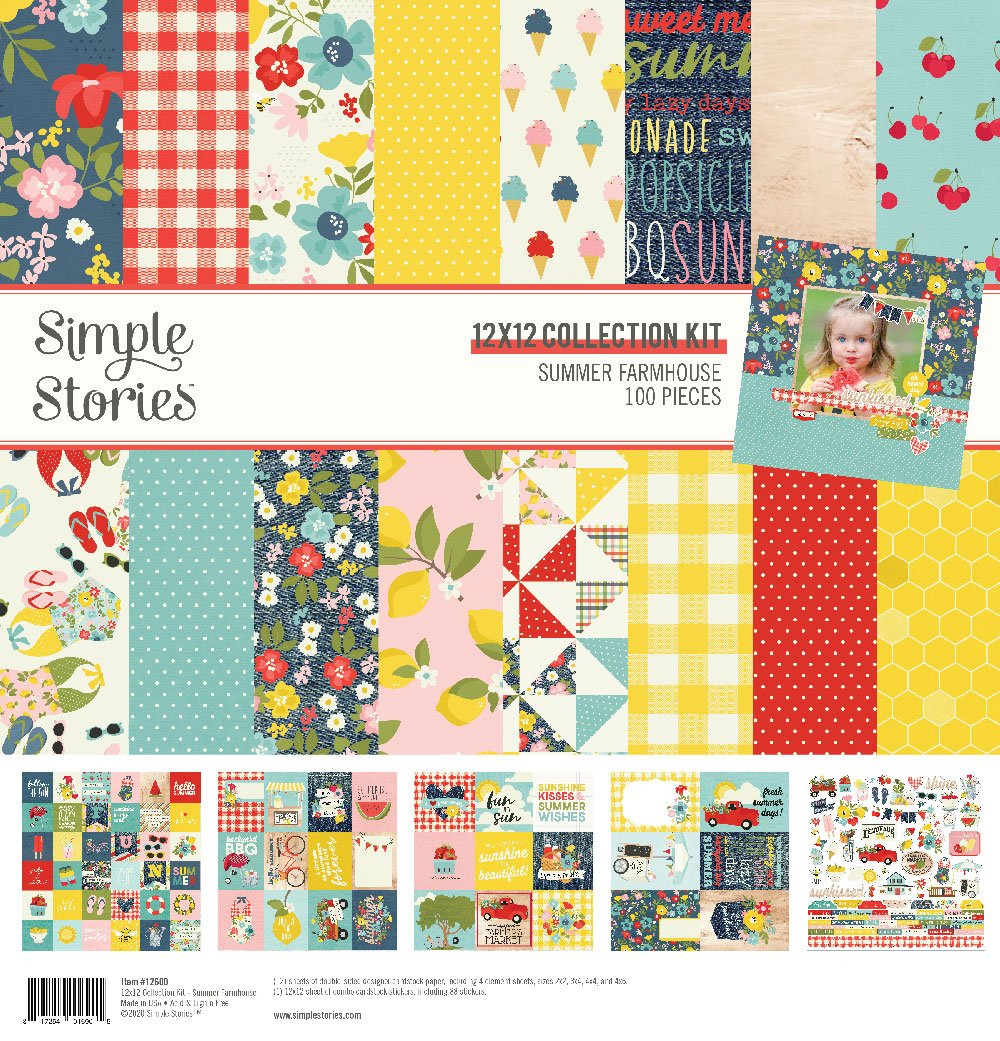 Simple Stories Summer Farmhouse 12x12 Collection Kit