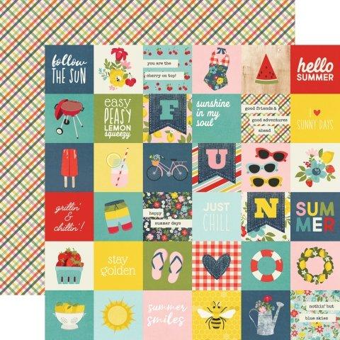 Simple Stories Summer Farmhouse 12x12 Paper - 2x2 Elements