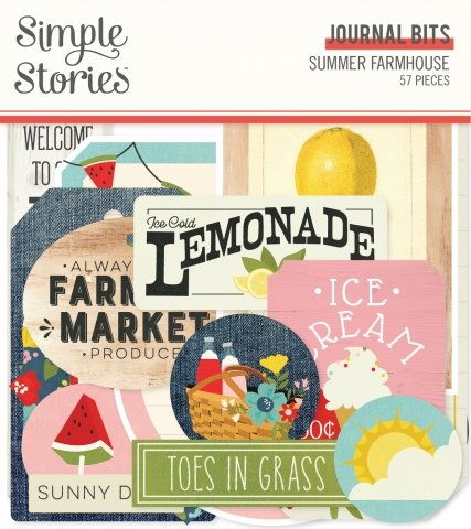 Simple Stories Summer Farmhouse Journaling Bits & Pieces