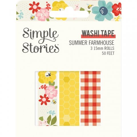 Simple Stories Summer Farmhouse Washi Tape Set