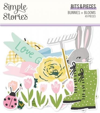 Simple Stories Bunnies + Blooms  Bits & Pieces Pack