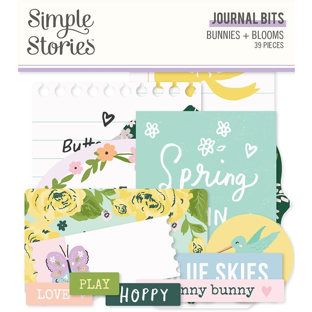 Simple Stories Bunnies + Blooms Journaling Bits & Pieces Pack