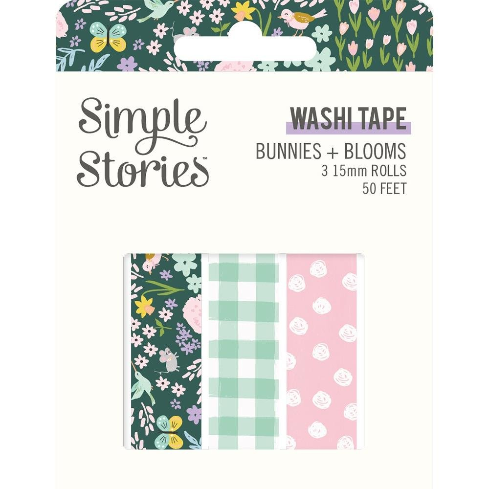 Simple Stories Bunnies + Blooms Washi Tape Rolls (3pck)