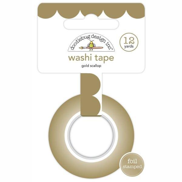Washi Tape Gold Scallop