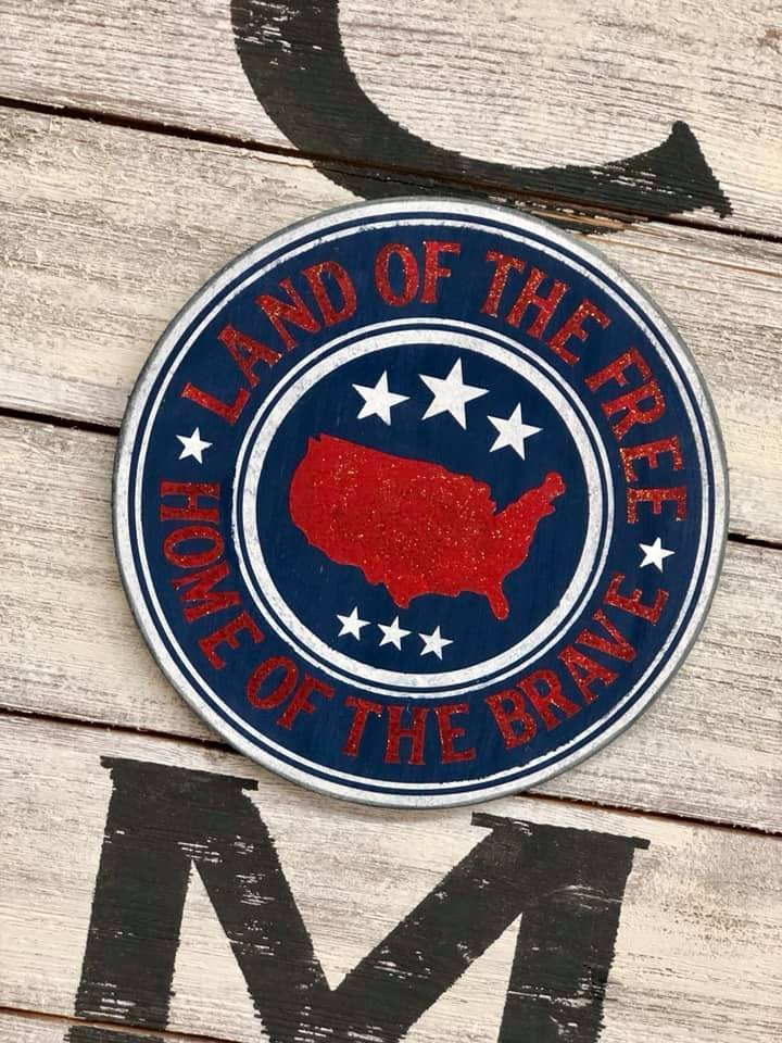 Add On for Welcome Sign - Land of the Free