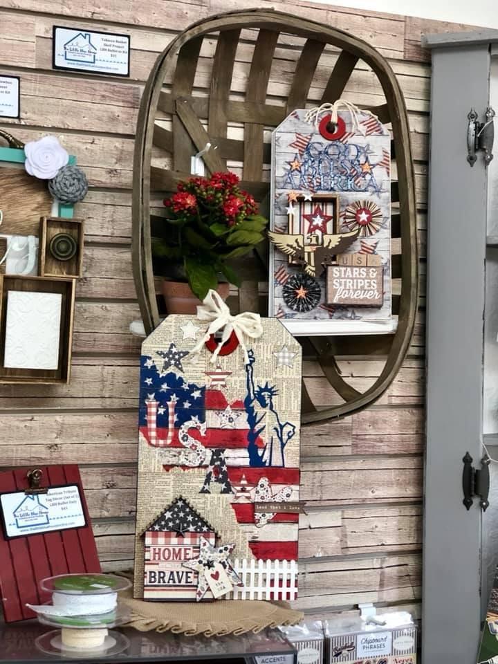 American Tribute Tag Decor (Set of 2 Jumbo Tags)