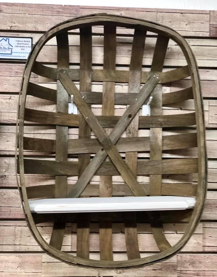 Tobacco Basket Shelf Project