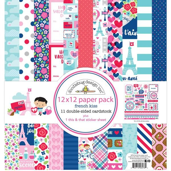 French Kiss 12x12 Paper Pack