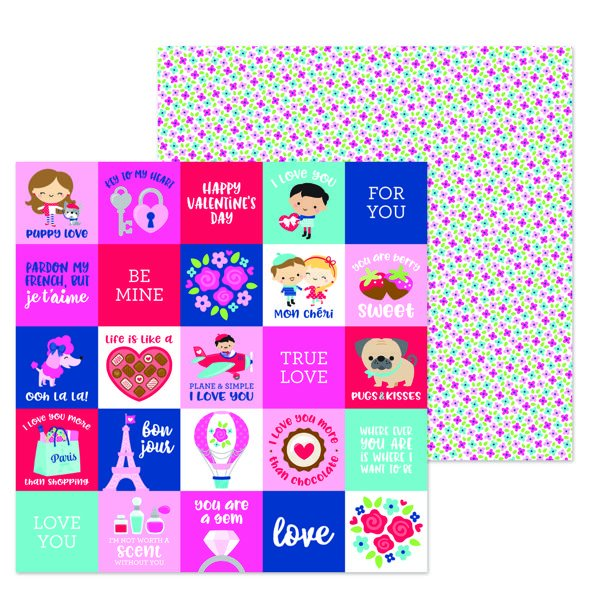 French Kiss Petite Fleur 12x12 Paper