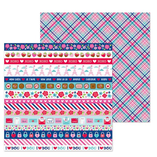 French Kiss Passion for Plaid 12x12 Paper