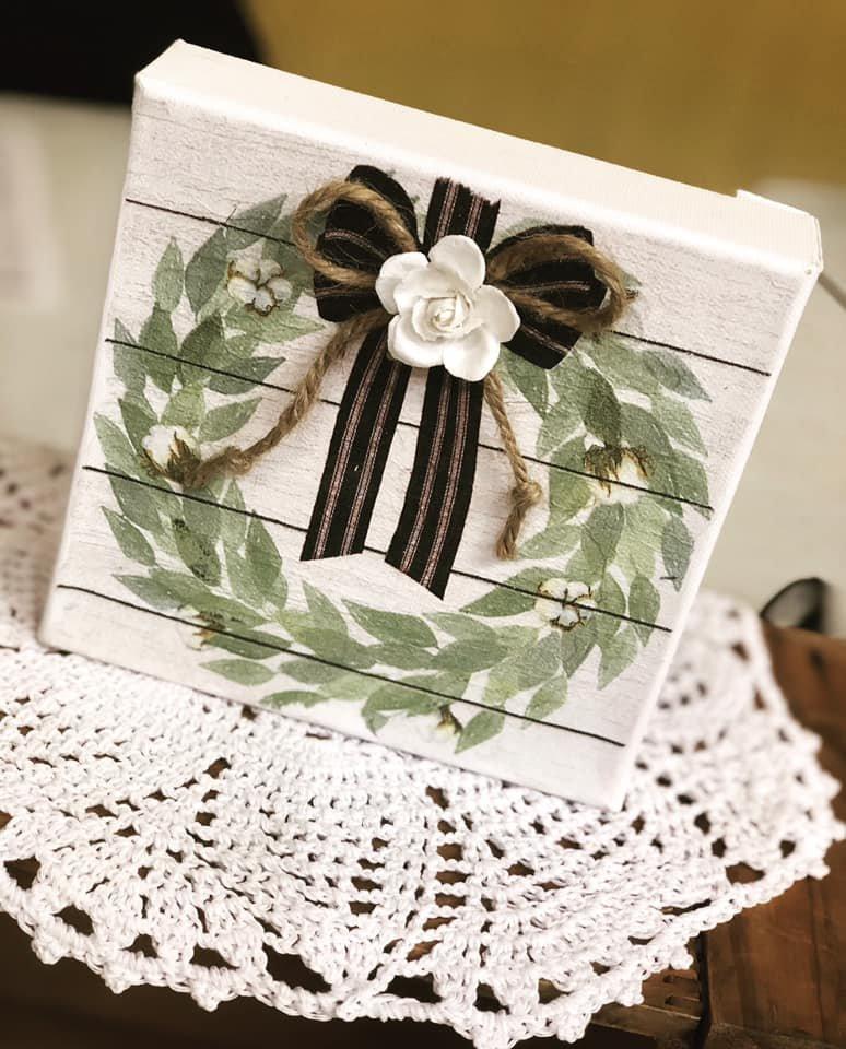Farmhouse Wreath Canvas Kit