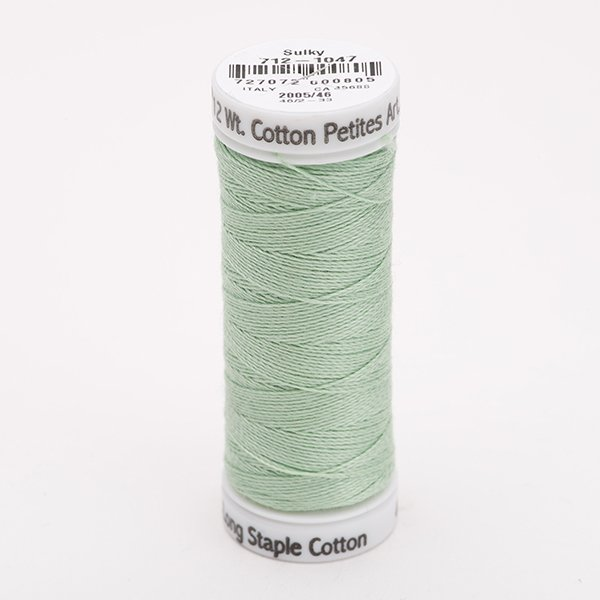 Sulky 12 Wt. Cotton Petites - Mint Green - 50 yd. Spool #712-1047